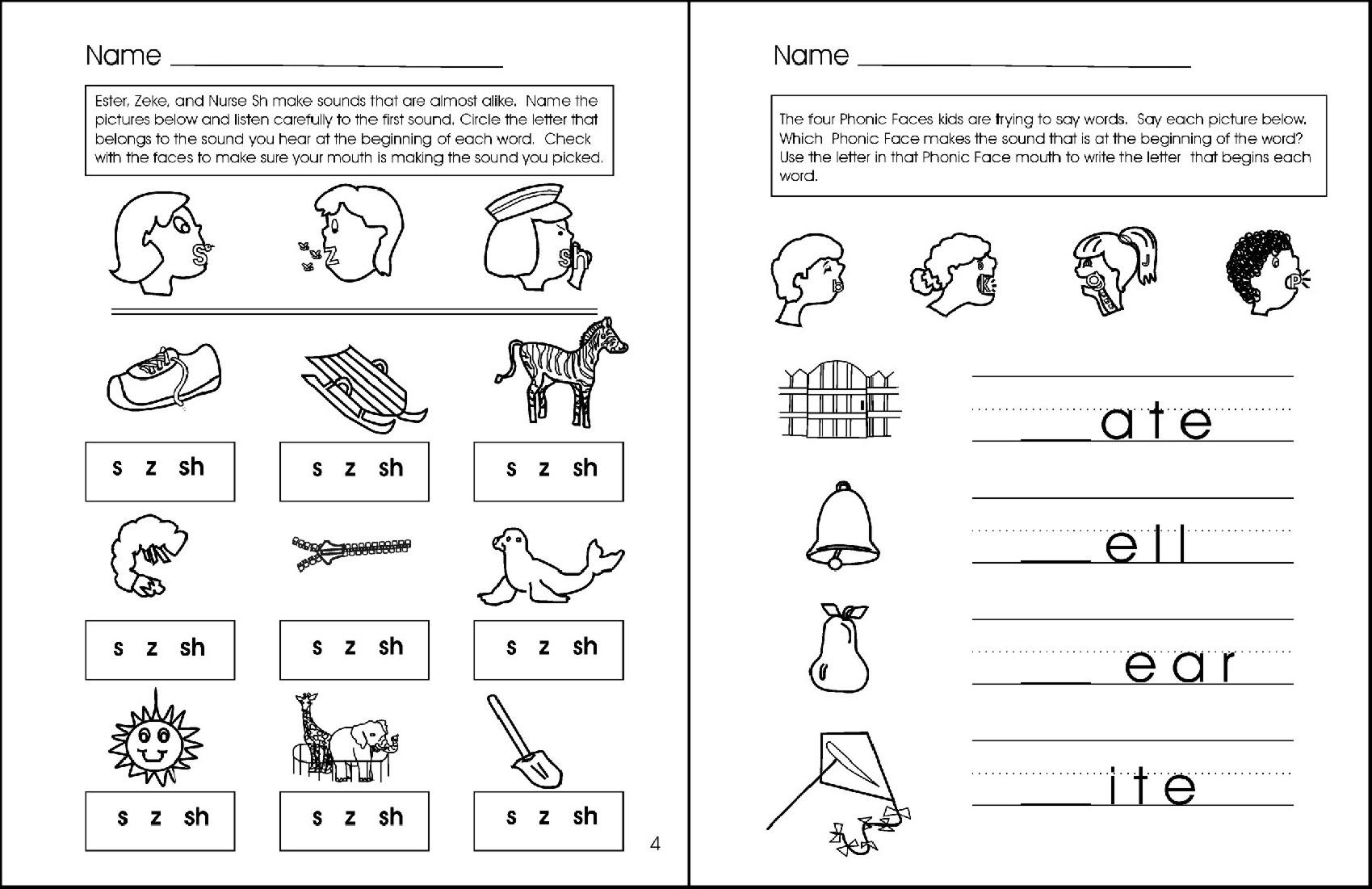 Letter Sound Phonemic Awareness Worksheets Phonics