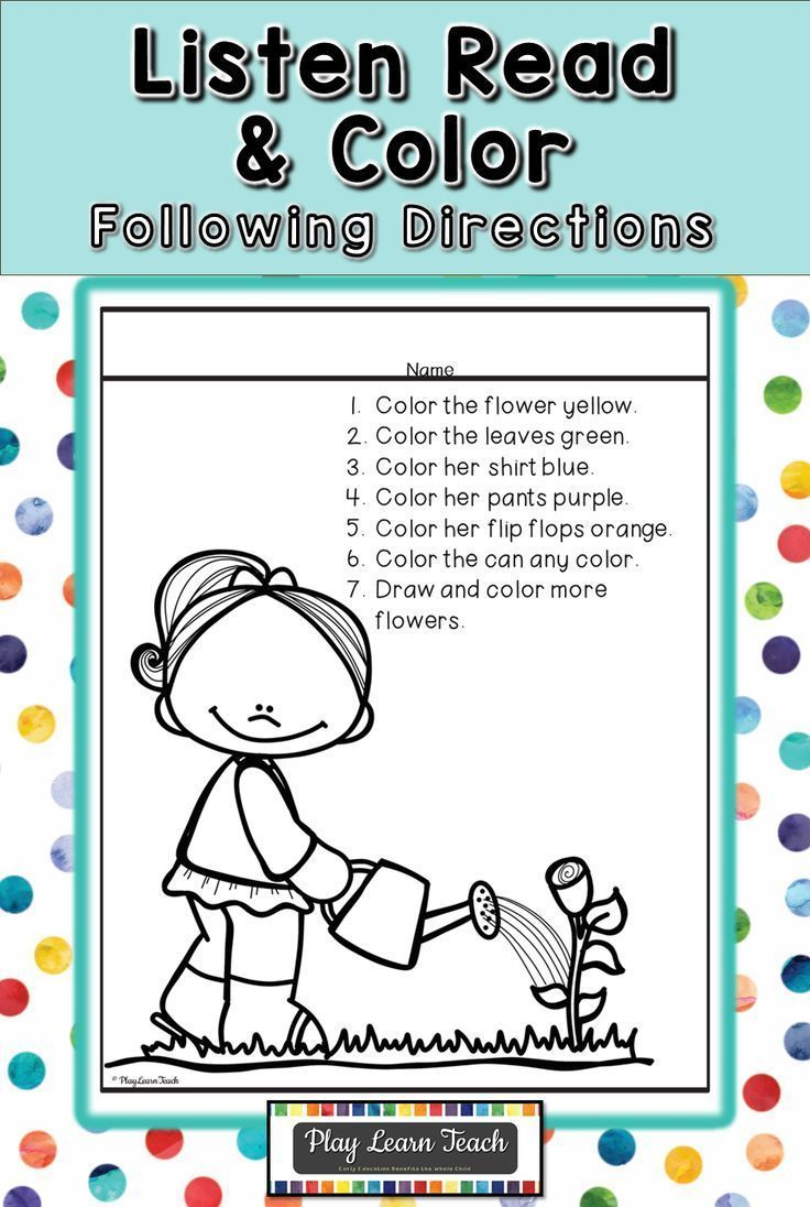 Listen Read & Color Can Be Easily Differentiated As A