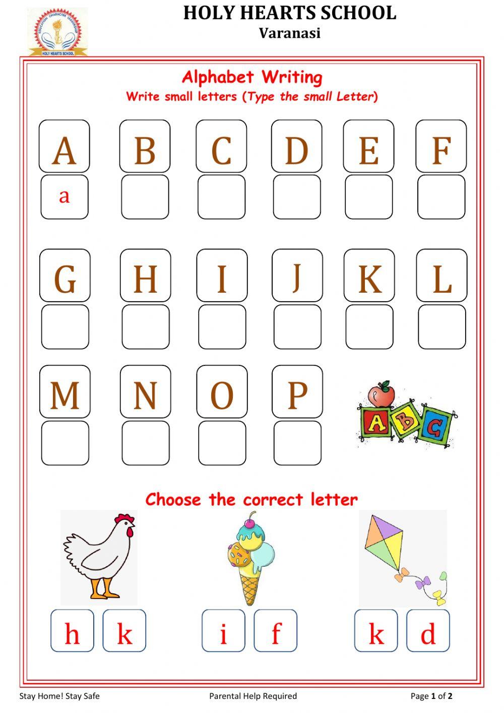 Lkg English Test 2 Worksheet regarding Alphabet Worksheets For Lkg