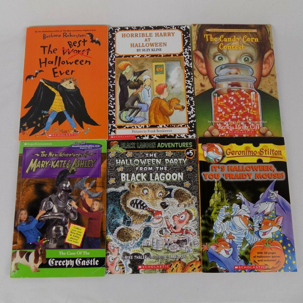 Lot Of 6 Halloween Theme Kids Books | Halloween Books For