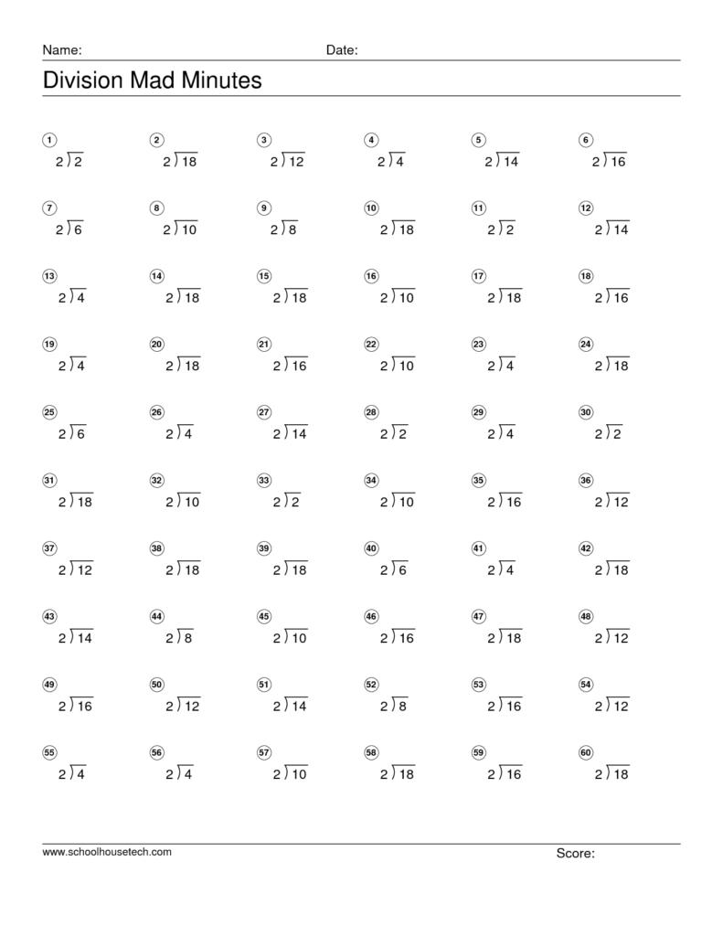 Mad Minutes Multiplication Worksheets Printable Maths Mathth