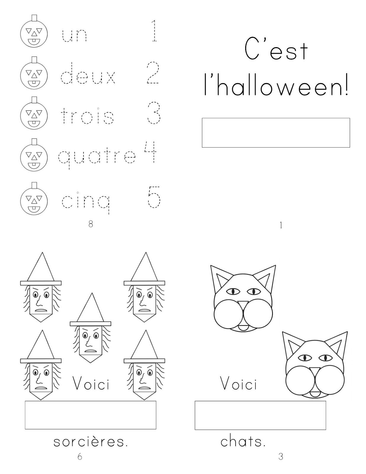 Madame Belle Feuille | Kindergarten Mini Books, Halloween