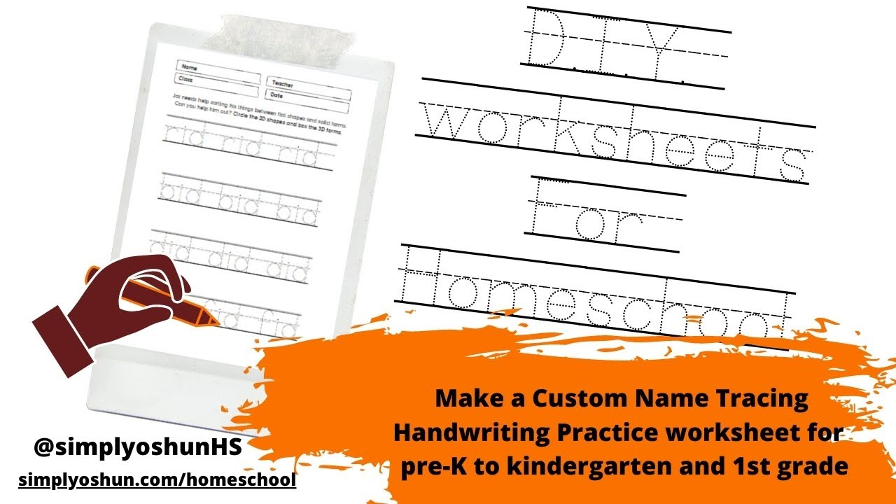Make A Custom Name Tracing Handwriting Practice Worksheet For Pre-K To  Kindergarten And 1St Grade intended for Name Tracing Software