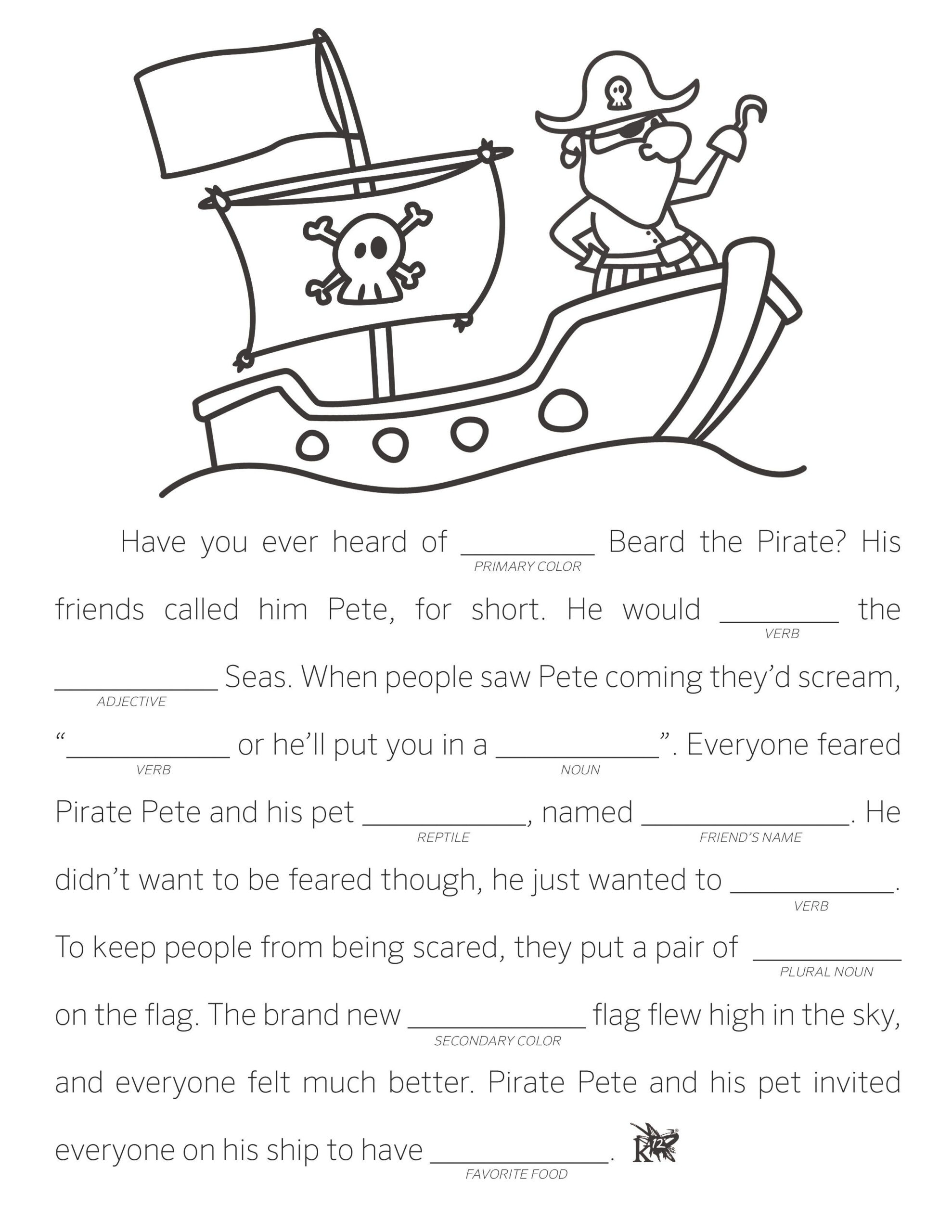 Make Your Own Fill In The Blank Stories - Learning Liftoff
