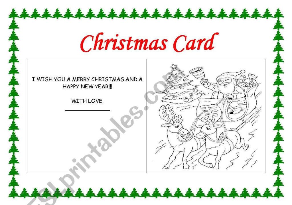 Making A Christmas Card   Esl Worksheetrhuanna