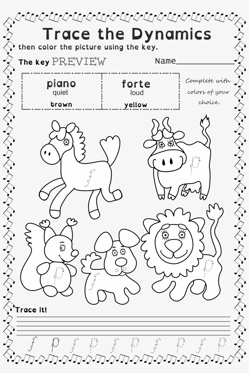 Marvelous Music Coloring Worksheets Picture Ideas Book Trace