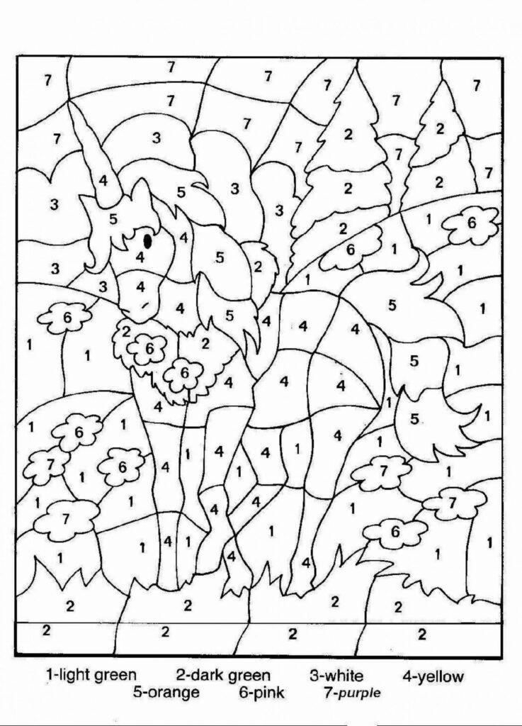 Math Coloring Worksheets 3Rd Grade Pdf Free 2Nd Printable