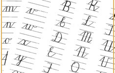 Cursive Alphabet Practice Printable