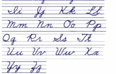 Cursive Alphabet Handwriting