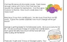 Math Worksheet ~ Halloween 3Rd Grade Worksheet Math