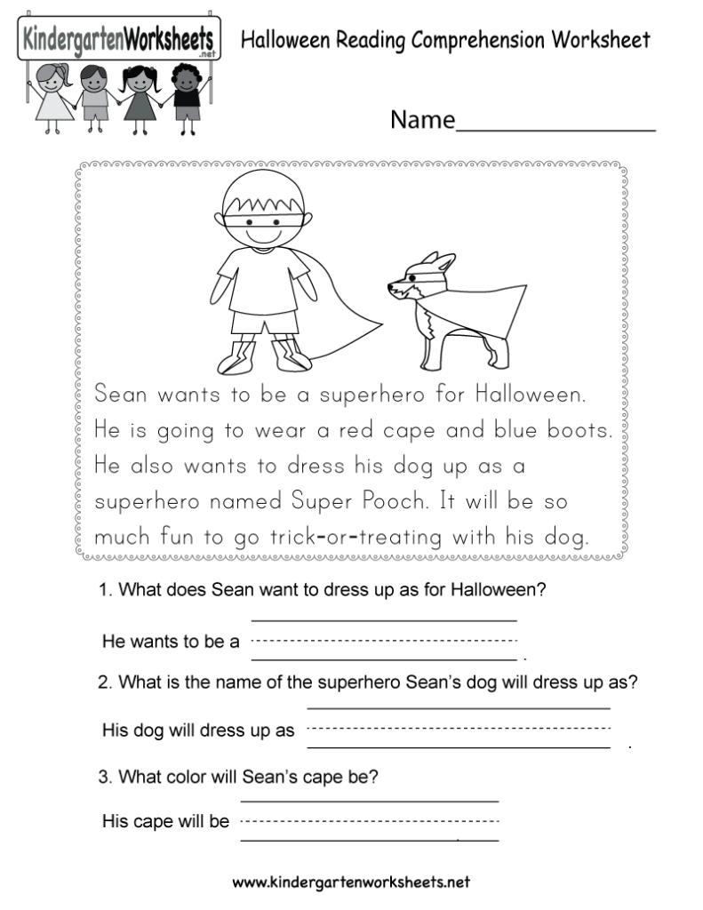 Math Worksheet : Halloween Readingksheet Printable