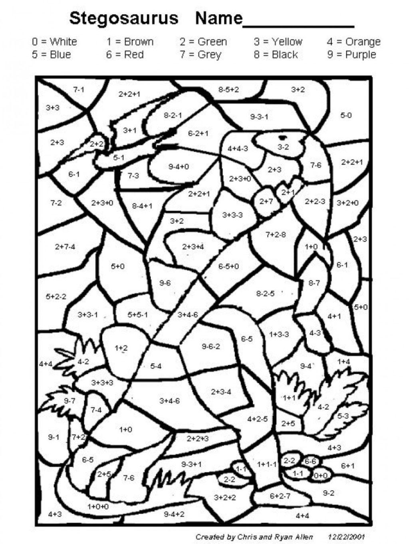 Math Worksheet ~ Multiplication Coloring Sheet Hidden