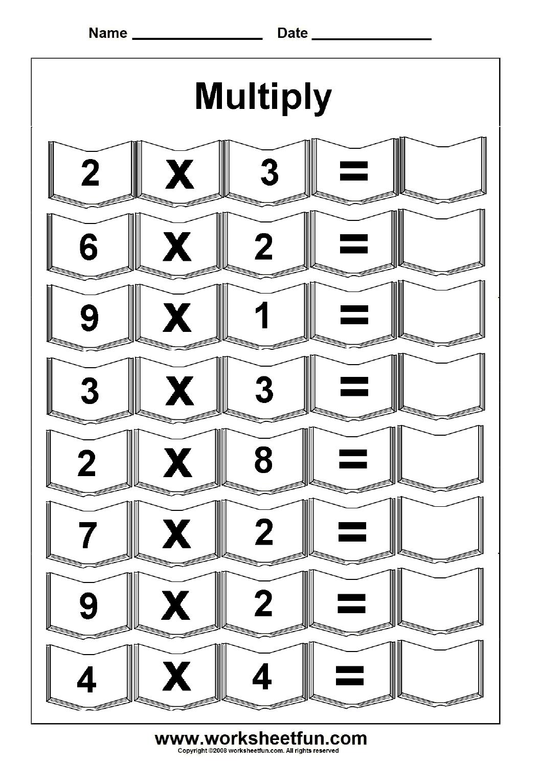 Math Worksheet : Multiplication Worksheets Free Printable