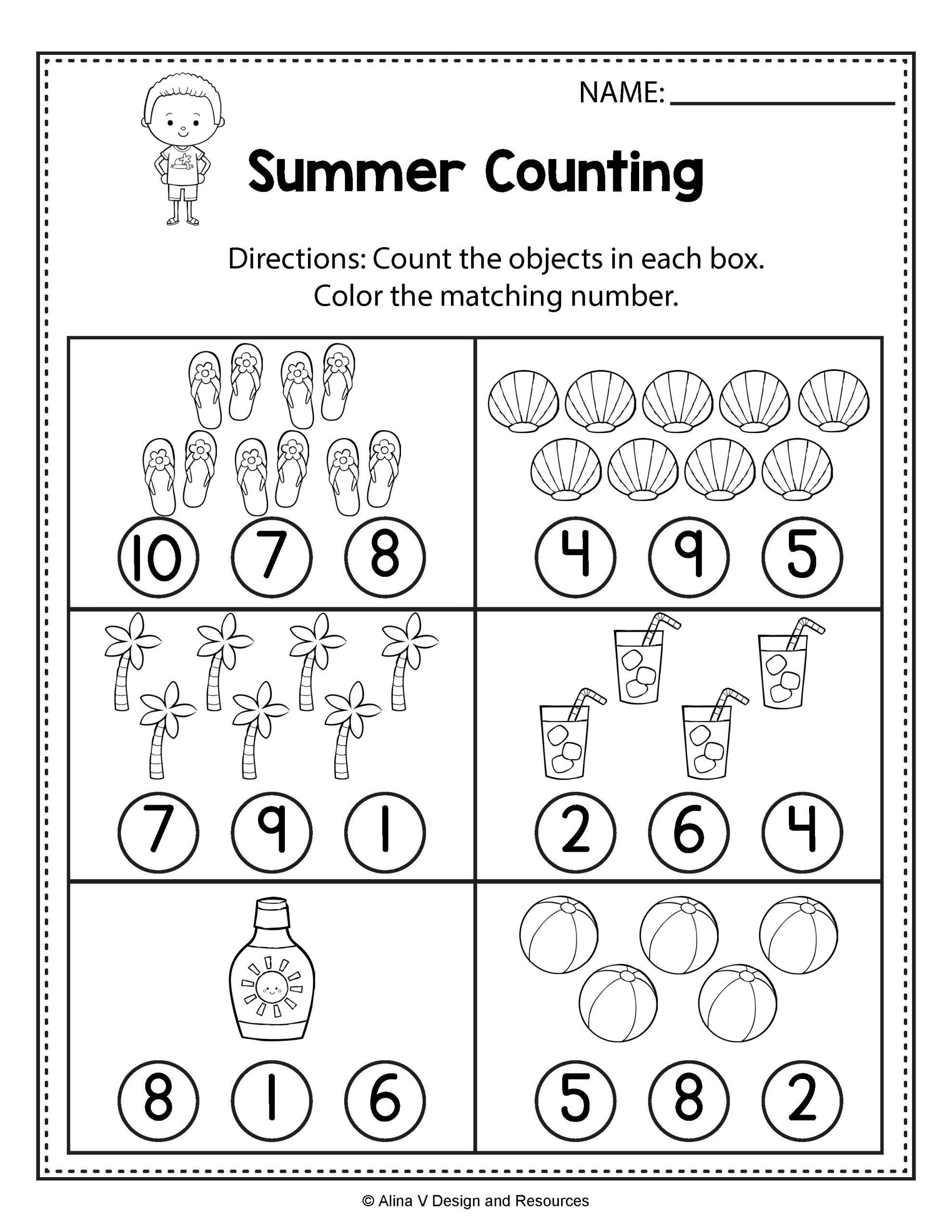 Math Worksheet Number Worksheets For Preschool Free Kids