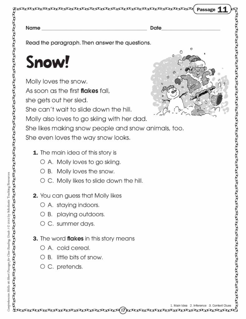 Math Worksheet : Simple 1St Grade Readingsheets Christmas