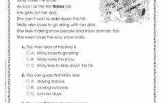 Christmas Reading Comprehension Worksheets 3rd Grade