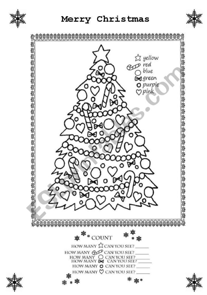 Merry Christmas Colouring Sheet   Esl Worksheettranquilia
