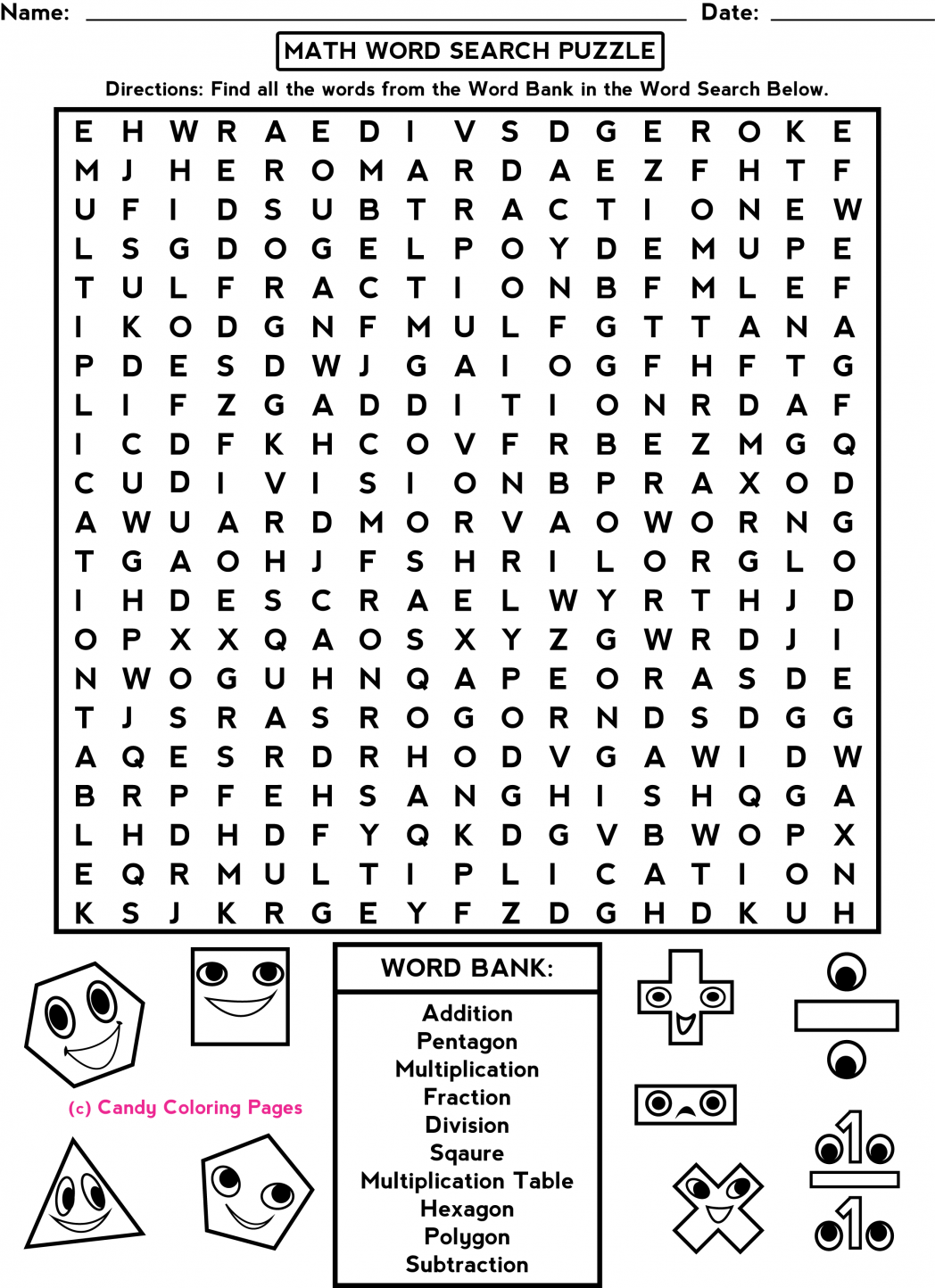 Middle School Free-Printable-Halloween-Math-Worksheets-For