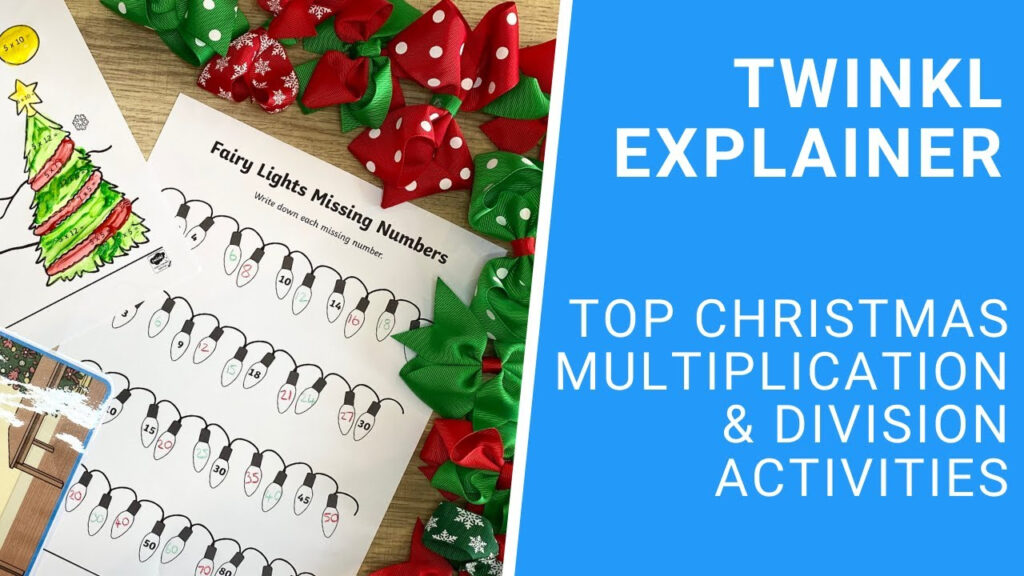 Multiplication Mosaic Christmas Maths Worksheets