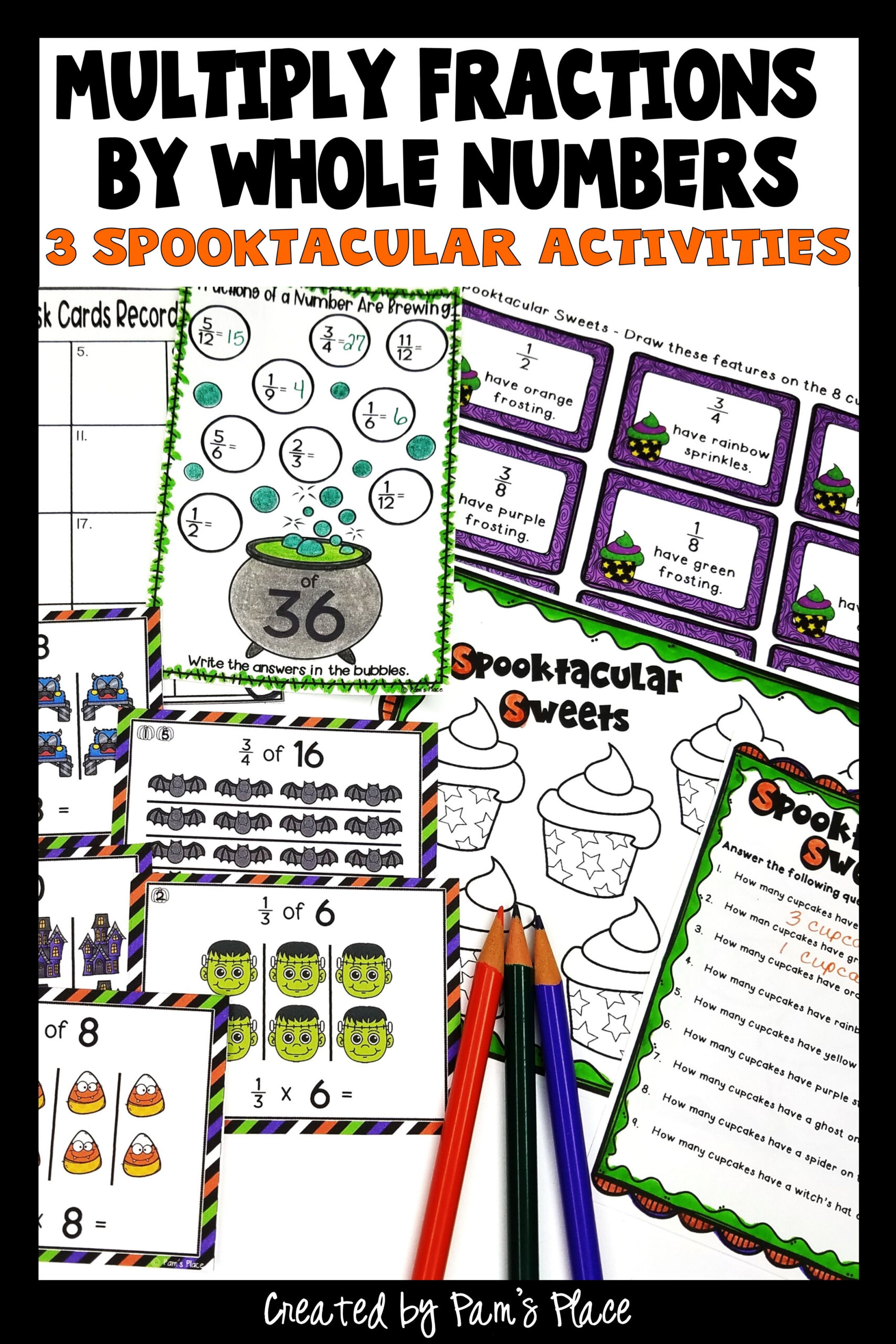 Multiply Fractionswhole Numbers   Halloween Math