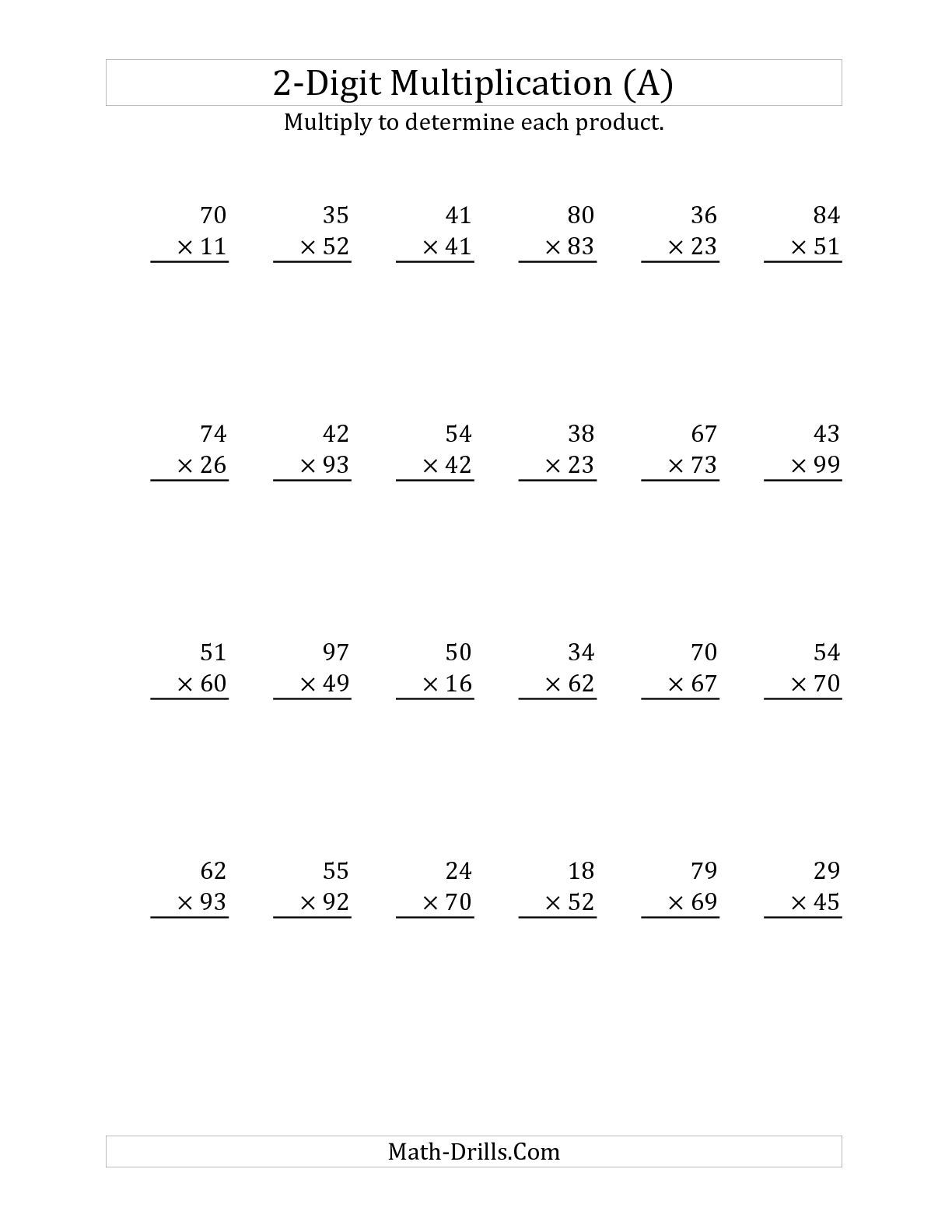 Multiplying A 2-Digit Numbera 2-Digit Number (A) Long