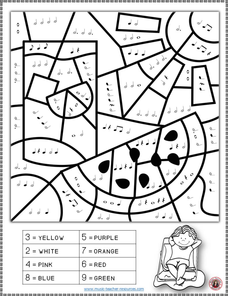 Music Coloring Worksheets For Kidsnumbers Free Halloween
