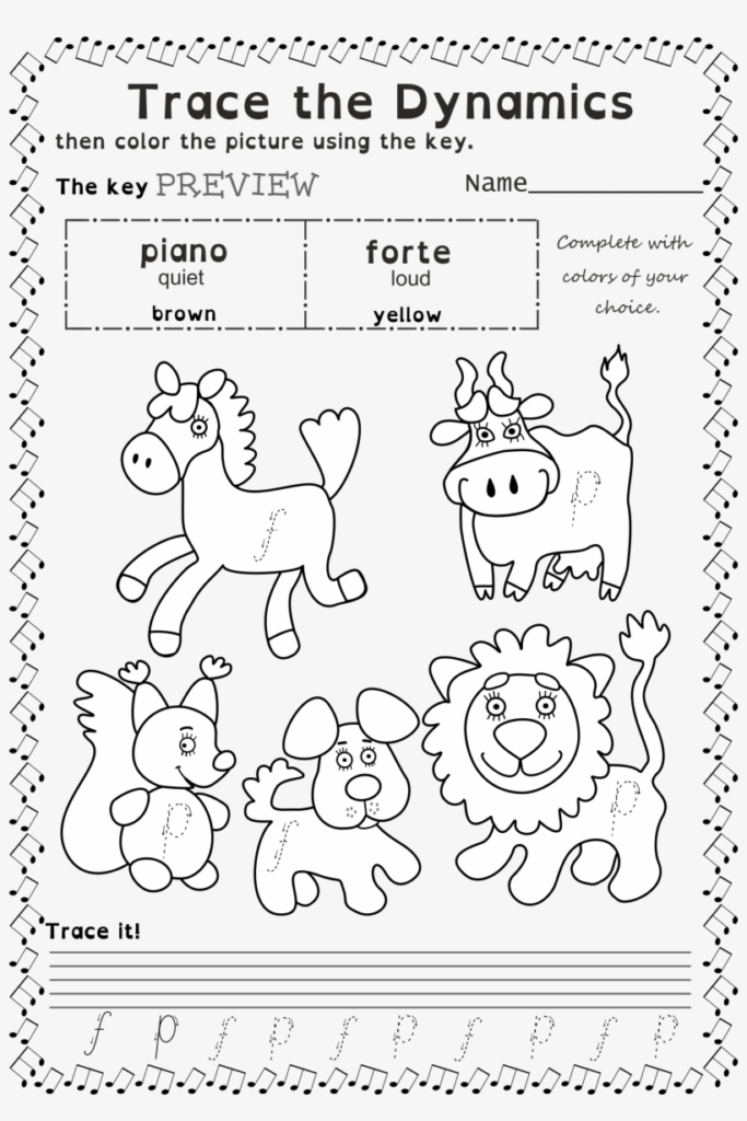Music Coloring Worksheets Pdf Online Christmas For Kids