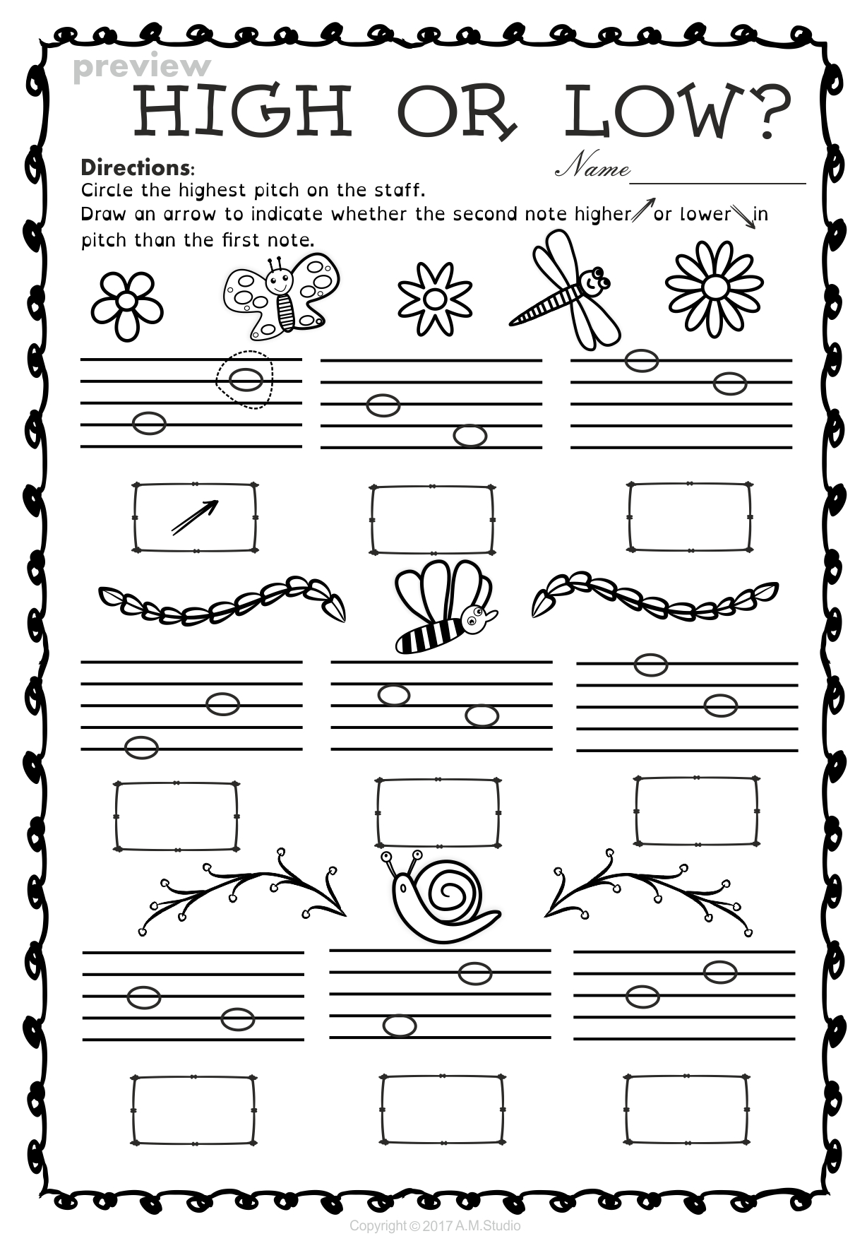 Music Themed Preschool Worksheets : Brian Molko