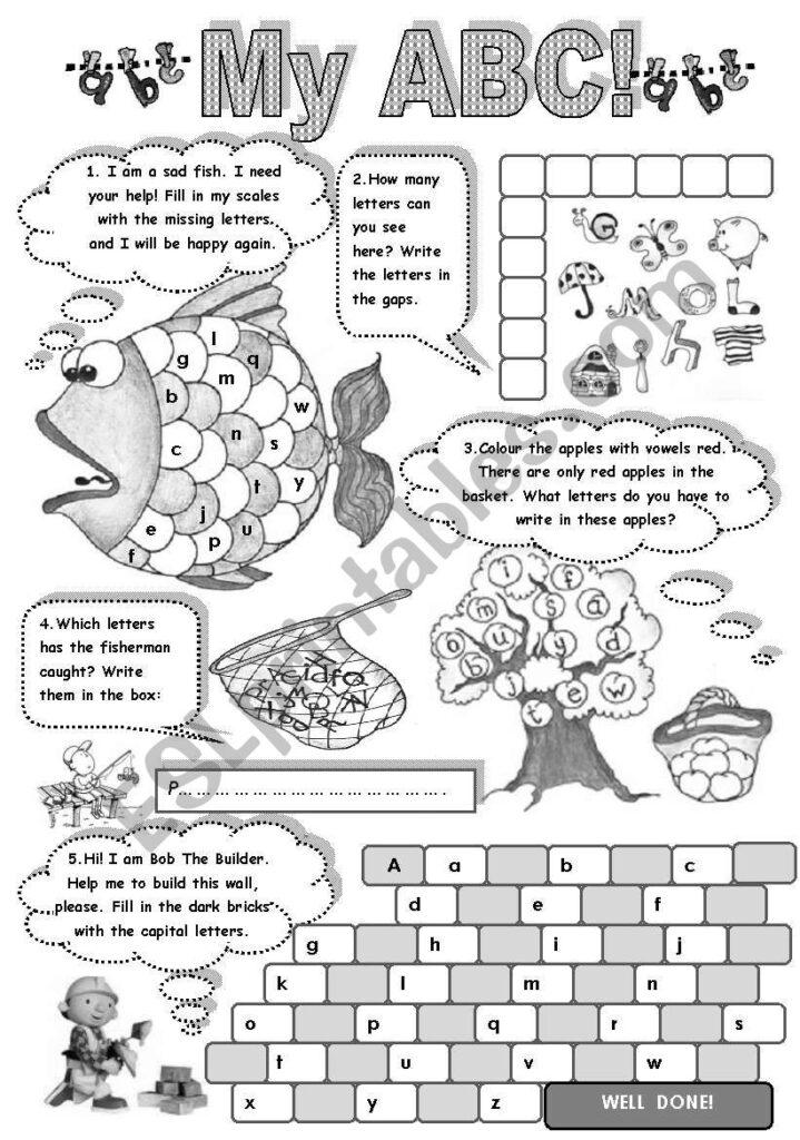 My A B C   Fun With Alphabet (Amazing Activities To Practise For Alphabet Exercises Esl