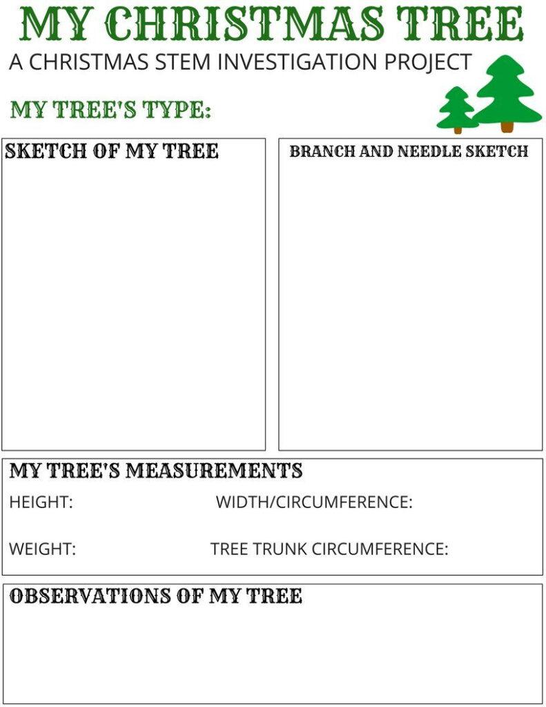 My Christmas Tree Stem Activity {Free Printable} | Christmas