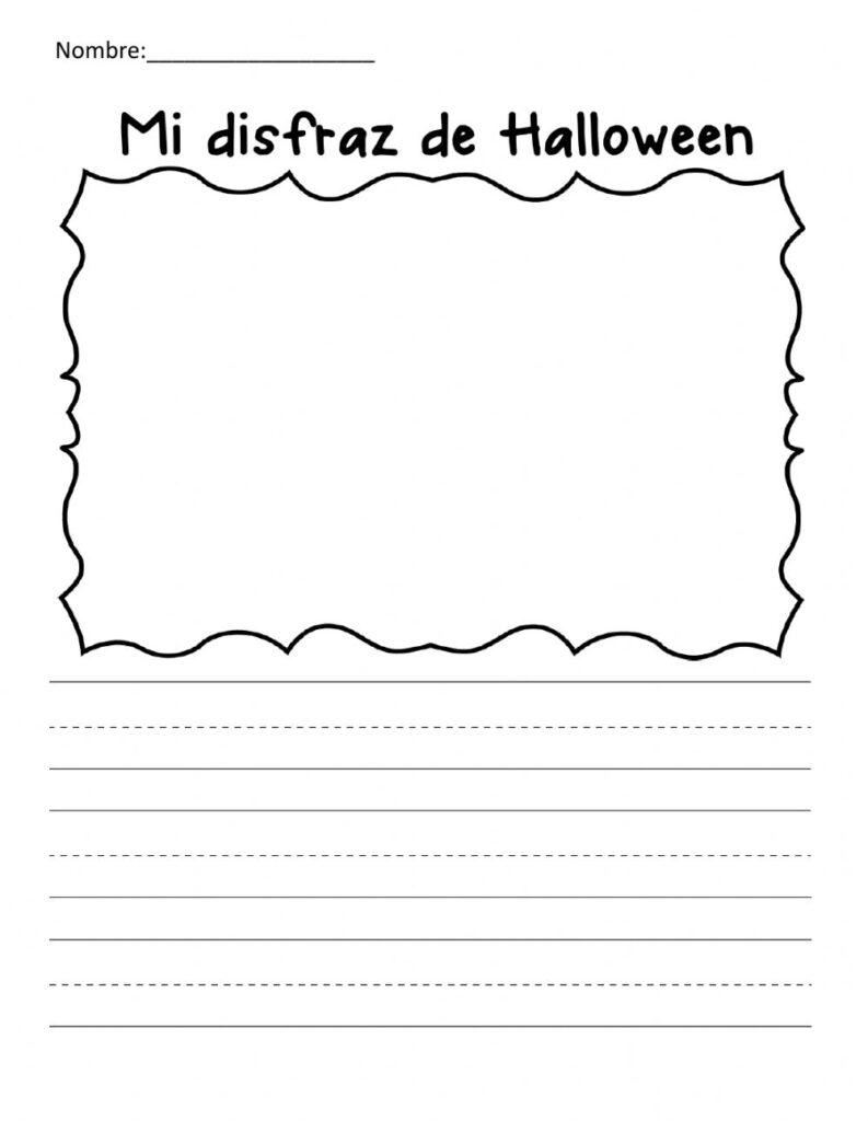 My Halloween Costume Worksheet