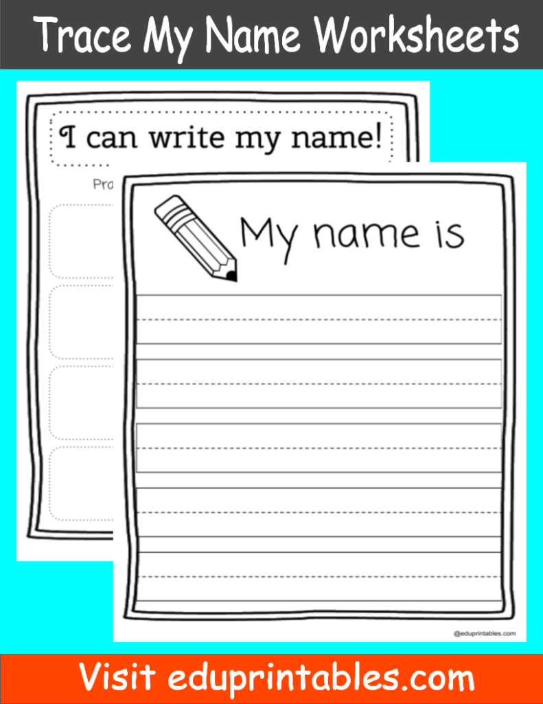 Name Tracing Printable – Eduprintables With My Name Is Tracing Worksheet