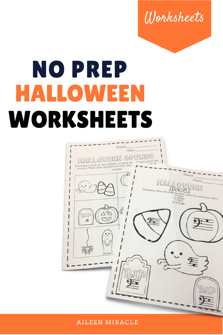 No Prep Halloween Music Worksheets: Perfect For Your