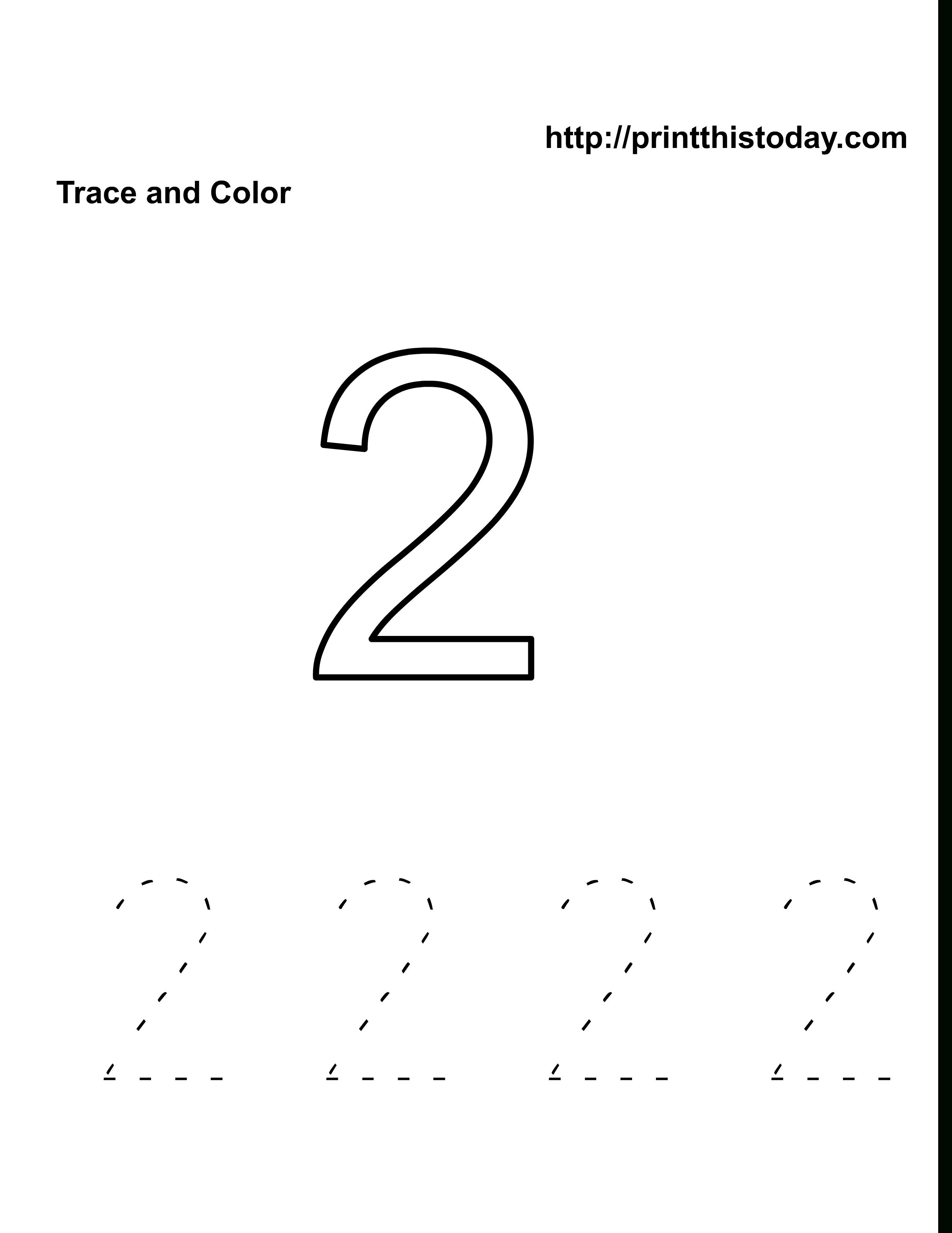 Number 2 Worksheet | Kids Activities
