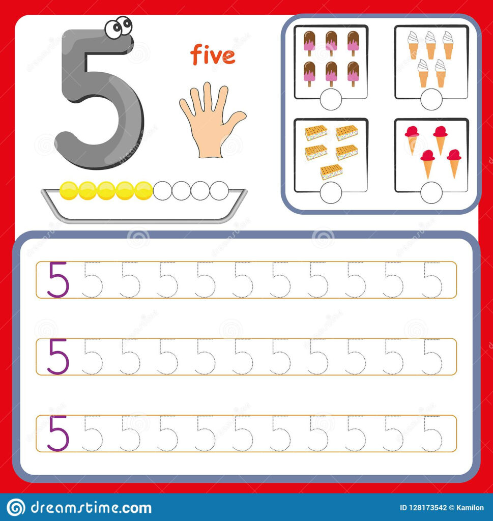 Number Cards Counting And Writing Numbers Learning Preschool