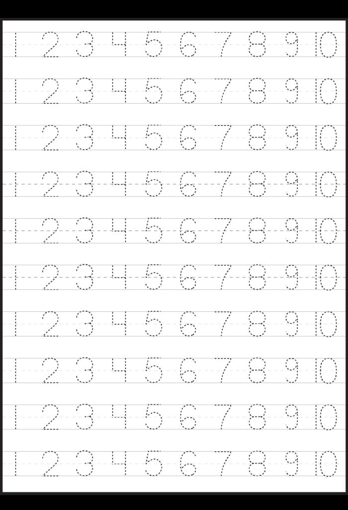 Number Tracing Lines Box 1 1.324×1.937 Pixels   Tracing