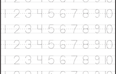 Preschool Number Tracing Worksheets Free Printable