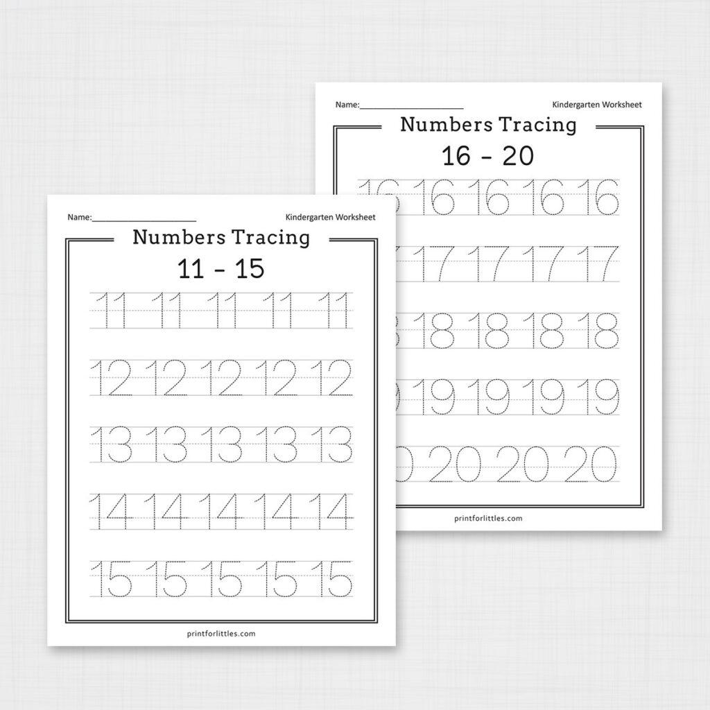 Numbers 1 20 Tracing Worksheets | Free Printable Worksheets