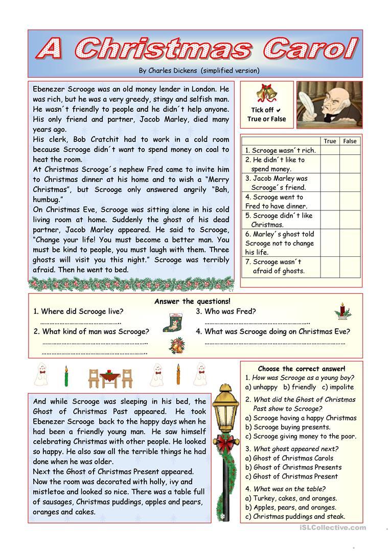 Obsessed A Christmas Carol Worksheets Printable | Tyrone Blog