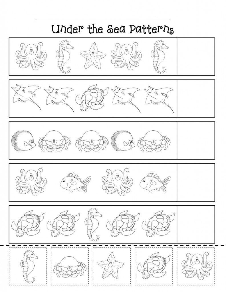 Ocean Animal Worksheet (1)   Pattern Worksheets For
