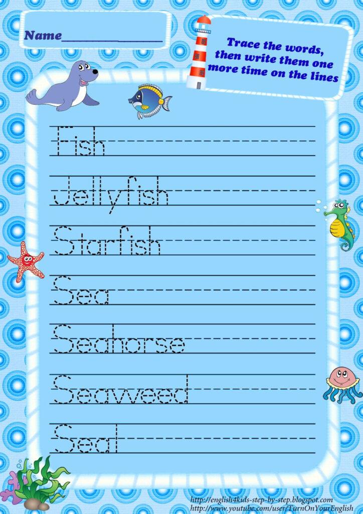 Ocean Animals Worksheets   Ocean Words, Ocean Animals