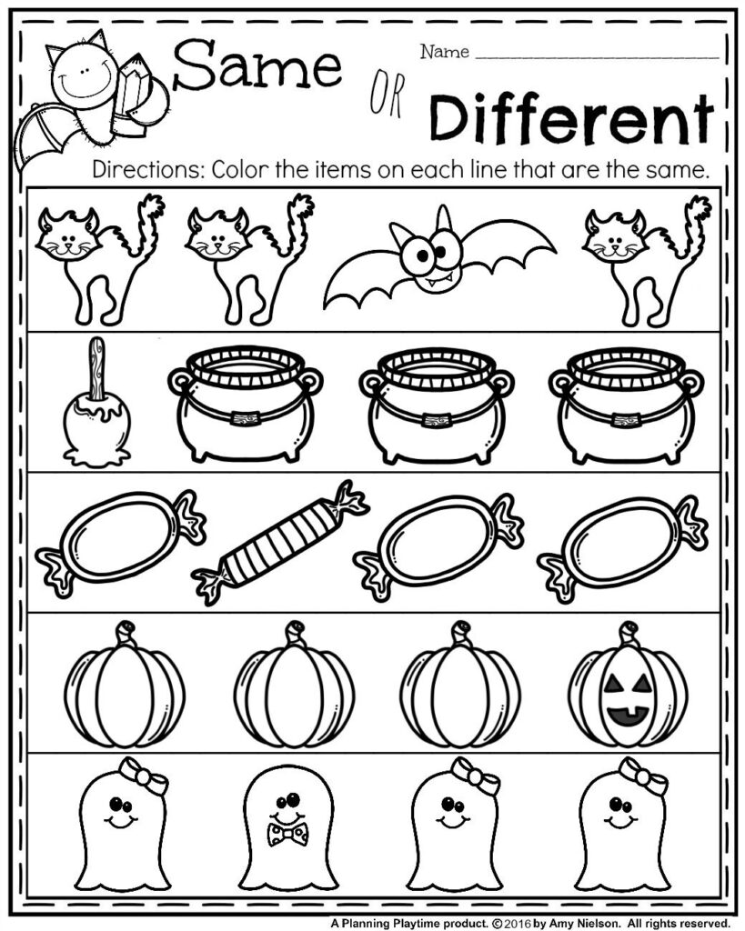 October Preschool Worksheets   Planning Playtime | Halloween