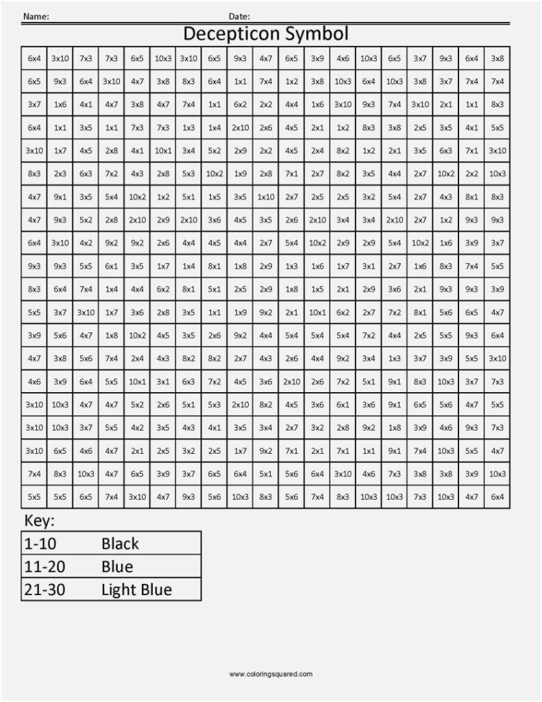 Outstanding Multiplication Colornumber Worksheets