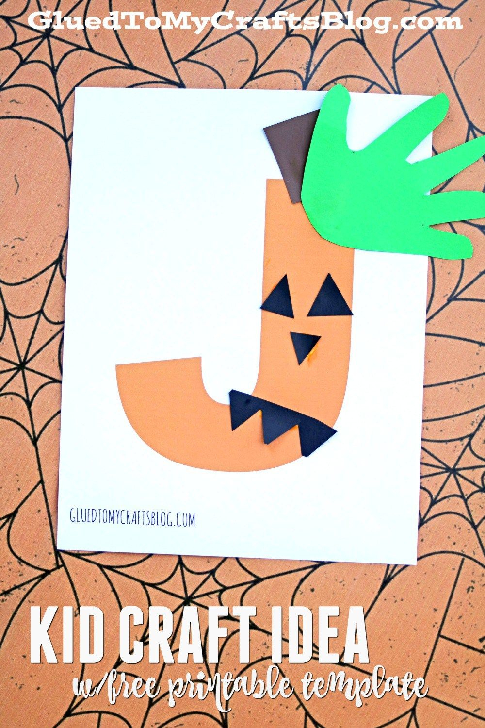 "Paper ""j"" Is For Jack-O-Lantern - Kid Craft For Halloween"
