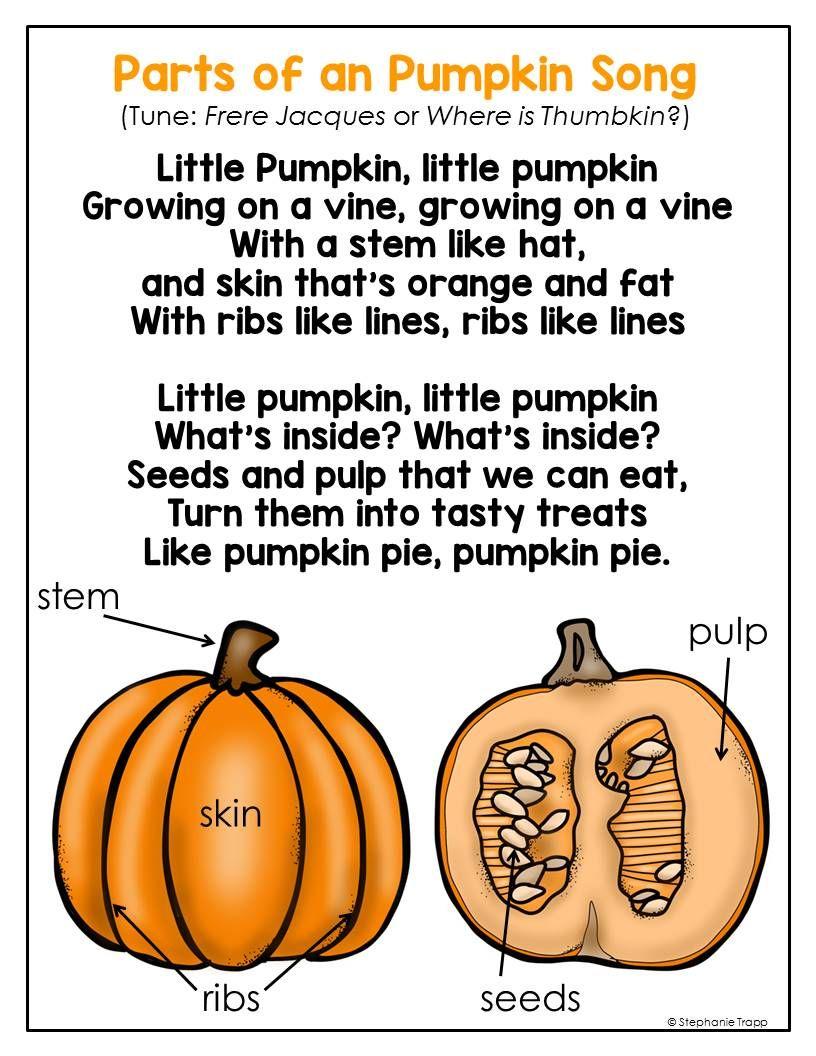 Parts Of A Pumpkin Free Printable | Halloween Preschool