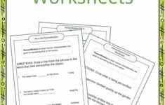 Personification Examples, Definition And Worksheets