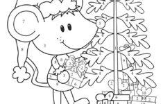 2nd Grade Christmas Math Coloring Worksheets