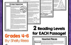 Halloween Reading Comprehension Worksheets Middle School