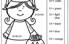 Math Halloween Coloring Worksheets