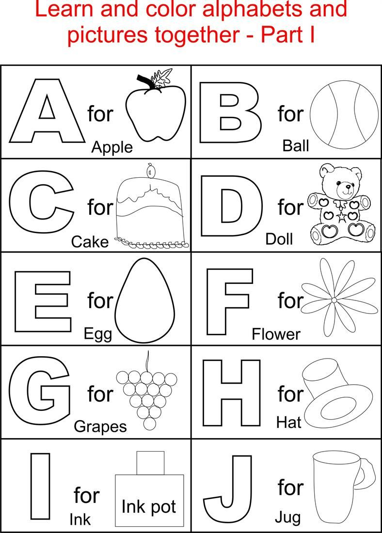 Pin On Kids throughout Alphabet Worksheets Coloring
